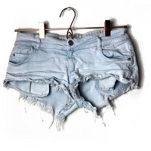 EUC Brandy Melville Light Wash Denim Shorts